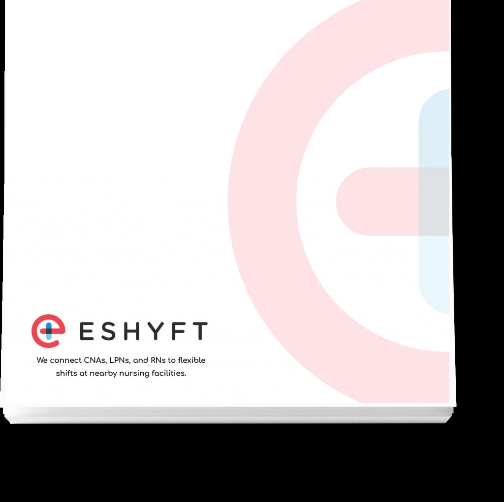 LeverageIT Eshyft Mockup Notepad